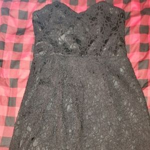 Express strapless lace dress